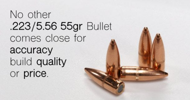 Ammo Reloaders Use 223 Bulk Bullets | AR15 Ammo | Pistol Bullets